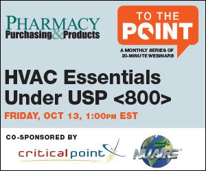 To The Point: A Monthly Series of 20-Minute Webinars. Friday, Sept 22, 1:00pm EST: Meet USP <800> CPEC Requirements. Co-Sponsored by CriticalPoint and NuAire. http://www.pppmag.com/tothepoint