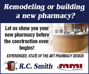 Remodeling or building a new pharmacy? Let us show you your new pharmacy before the construction even begins! Experience, State of the Art Pharmacy Design. R.C. Smith and MMI Systems. http://www.rcsmith.com