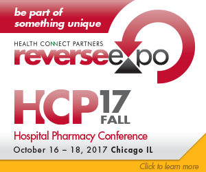 Be part of something unique. Health Connect Partners ReverseExpo. HCP Fall 17 Hospital Pharmacy Conference. October 16-18, 2017 Chicago, IL. Visit https://hlthcp.com/conferences/2017-fall-hospital-pharmacy/supplier/overview to learn more.
